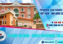 Trường Cao đẳng nghề Việt Nam – Hàn Quốc Cà Mau